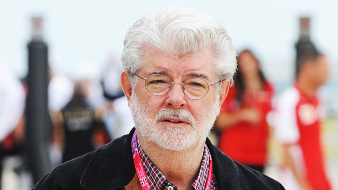 Mandatory Credit: Photo by REX Shutterstock (4896891b) George Lucas British Formula One 1 Grand Prix, Silverstone, Northamptonshire, Britain - 05 Jul 2015